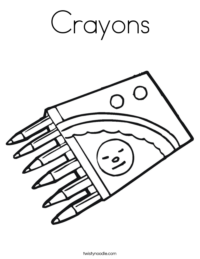 Crayons Coloring Page - Twisty Noodle