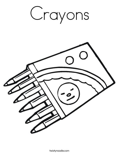 Crayons Coloring Page Twisty Noodle