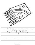 Crayons Worksheet
