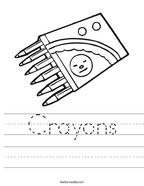 Crayons Handwriting Sheet
