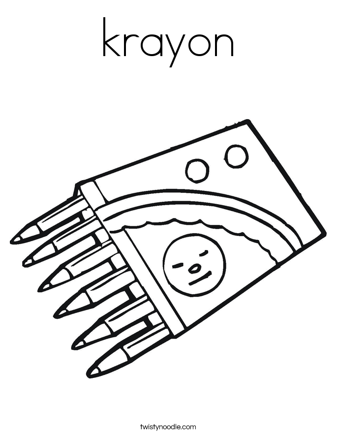 krayon Coloring Page