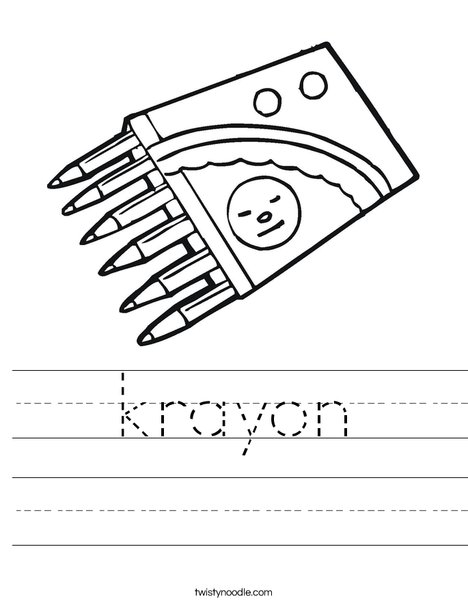 Crayons Worksheet