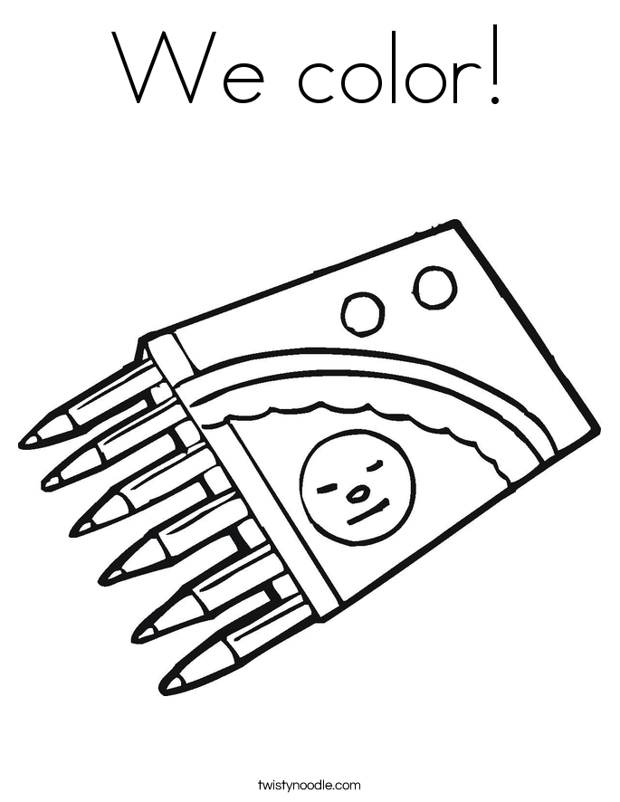 We color! Coloring Page