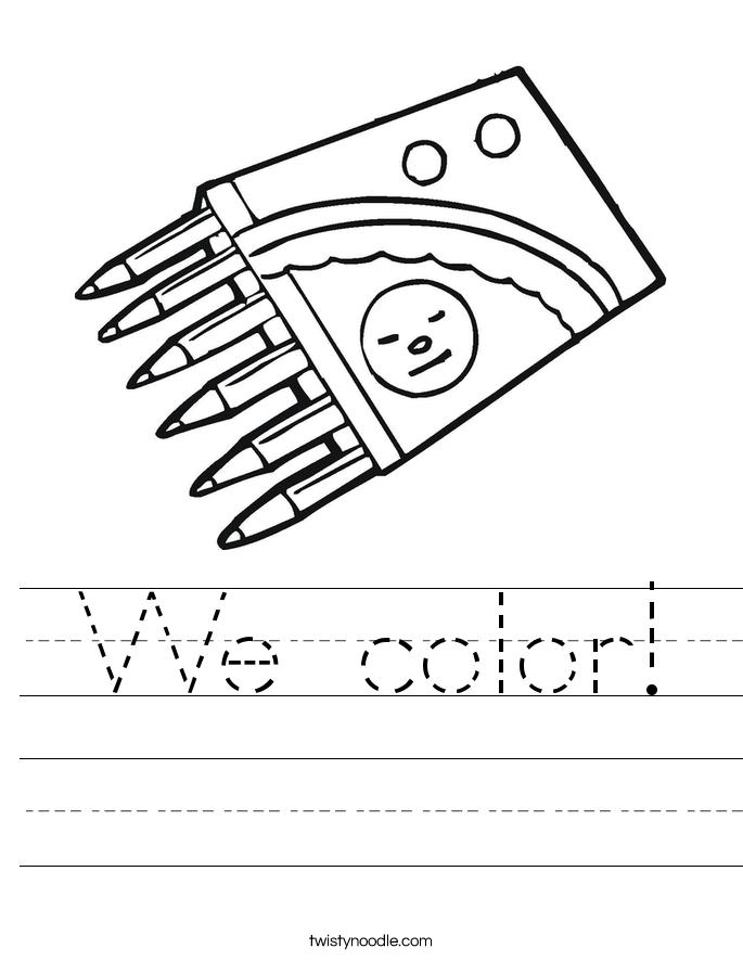 We color! Worksheet