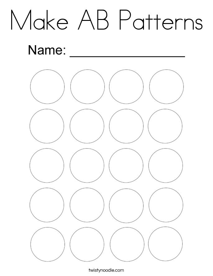 Make AB Patterns Coloring Page