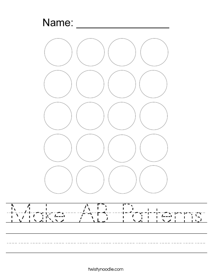 Make AB Patterns Worksheet
