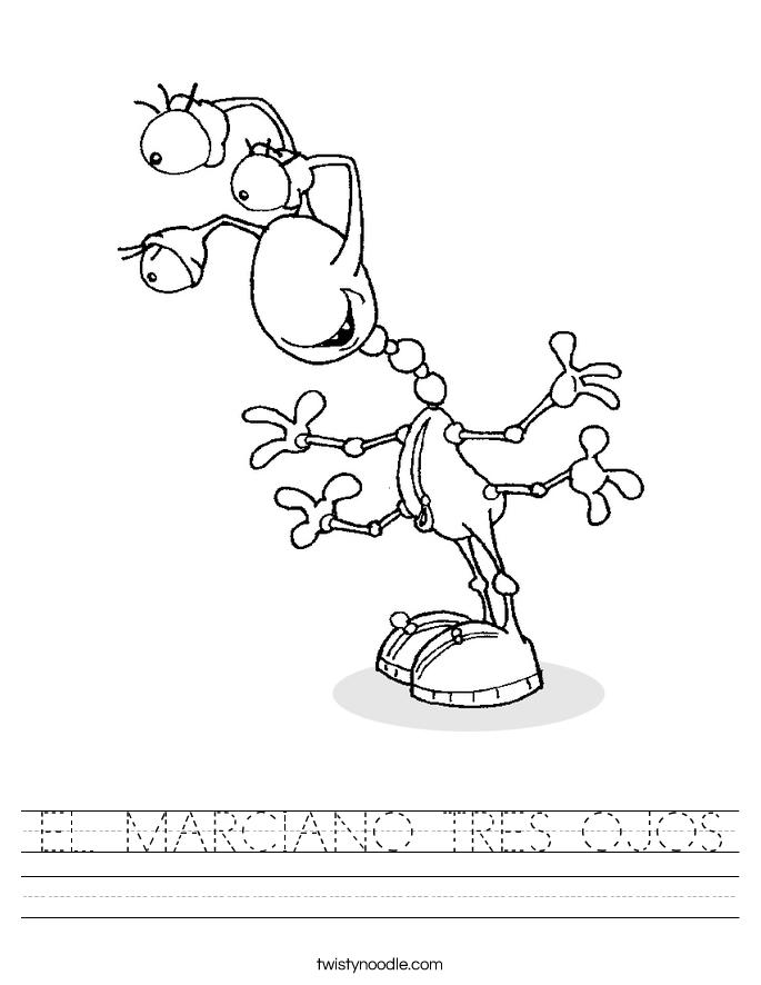 EL MARCIANO TRES OJOS Worksheet