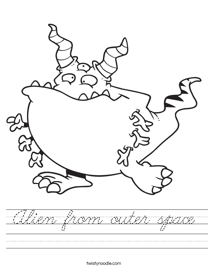 Alien from outer space Worksheet