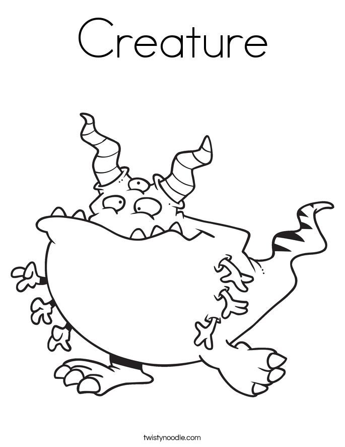 Creature Coloring Page