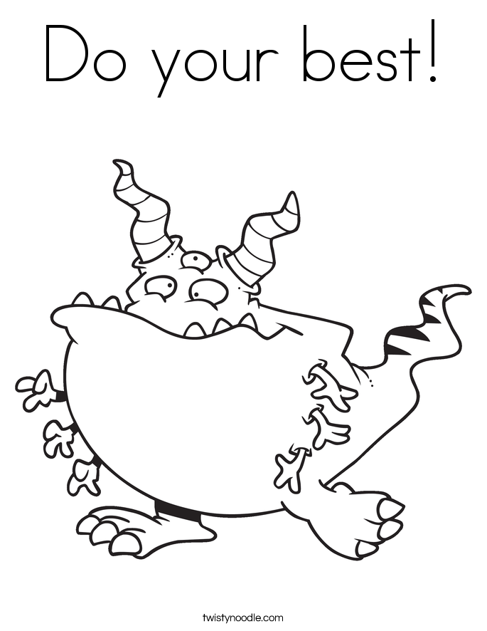 Do your best! Coloring Page