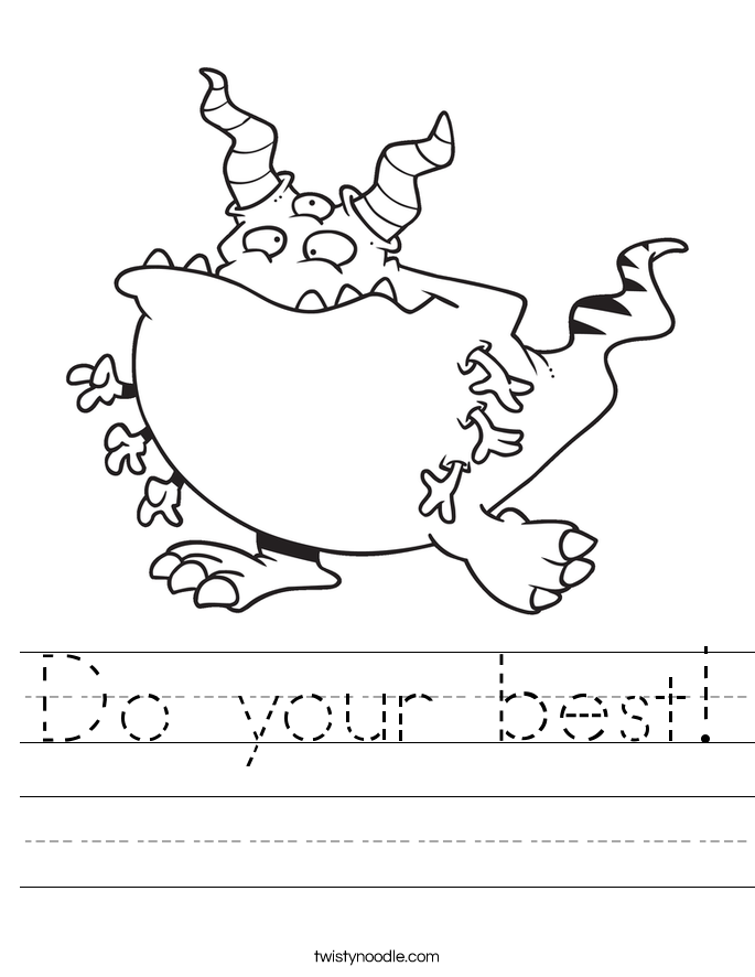 Do your best! Worksheet