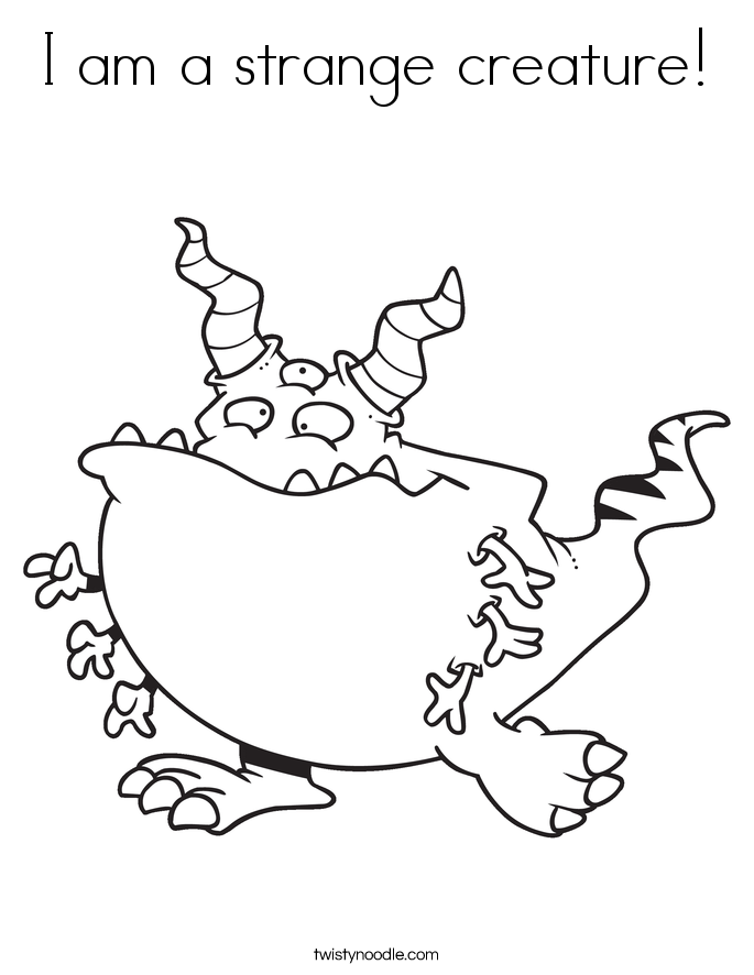 I am a strange creature! Coloring Page