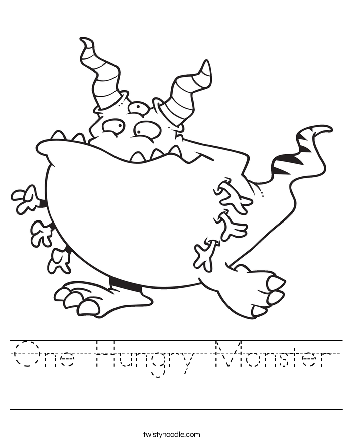 One Hungry Monster Worksheet