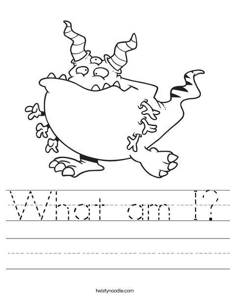 Creature with 6 arms Worksheet