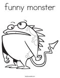 funny monsterColoring Page