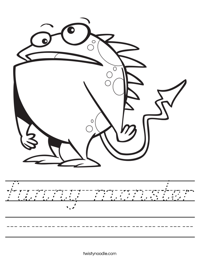 funny monster Worksheet
