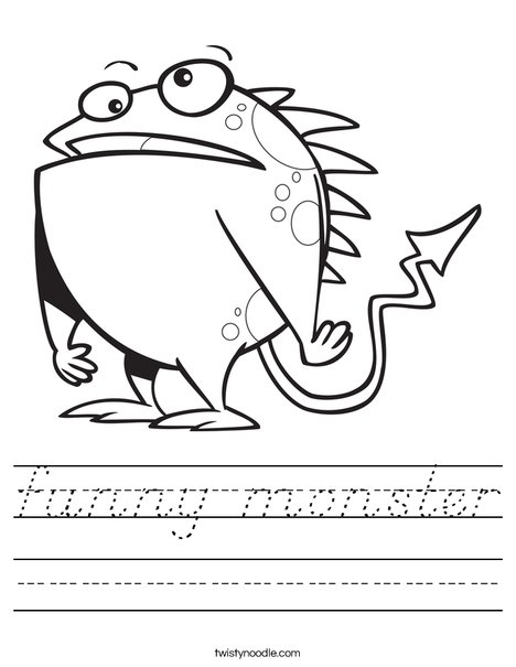 Creature with Arrow Tail Worksheet