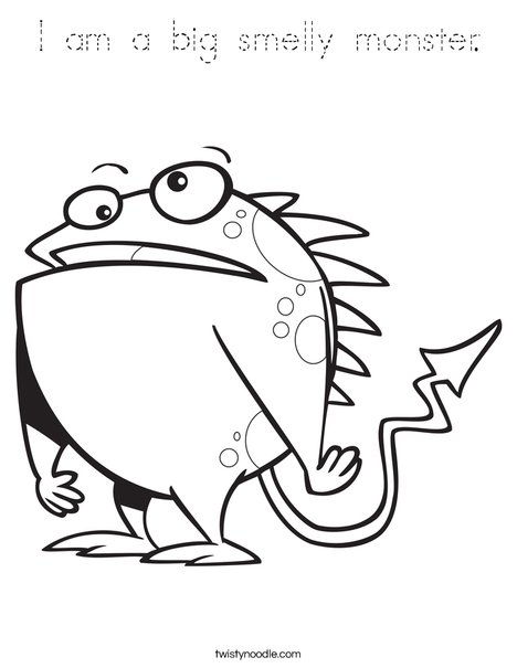 Creature with Arrow Tail Coloring Page
