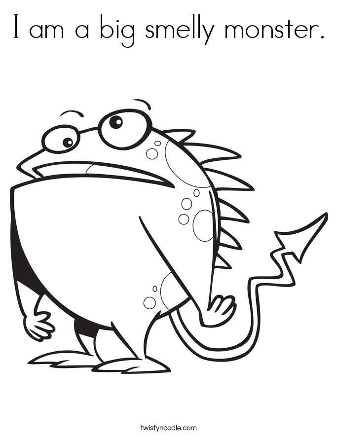 I am a big smelly monster. Coloring Page