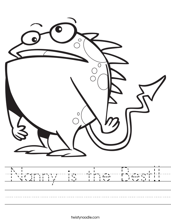 Nanny is the Best!! Worksheet