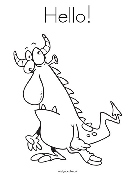 Creature3 Coloring Page
