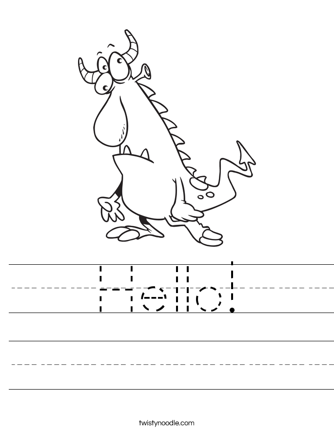 Hello! Worksheet