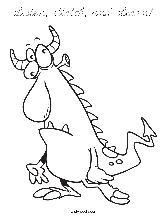 friendly monster coloring pages - photo#10