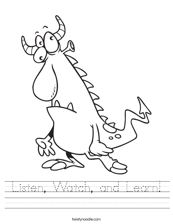 Listen, Watch, and Learn! Worksheet