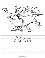 Alien Handwriting Sheet
