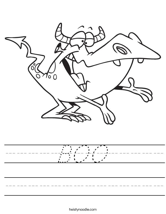 BOO Worksheet