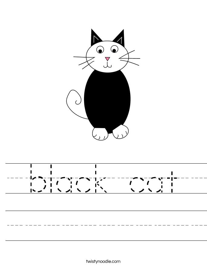 black cat Worksheet