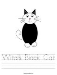Witch's Black Cat Worksheet