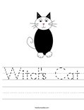 Witch's Cat Worksheet