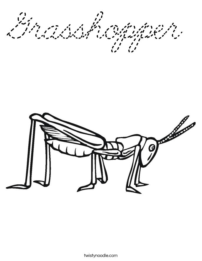 Grasshopper Coloring Page Cursive Twisty Noodle Coloring Pages Twisty Noodle