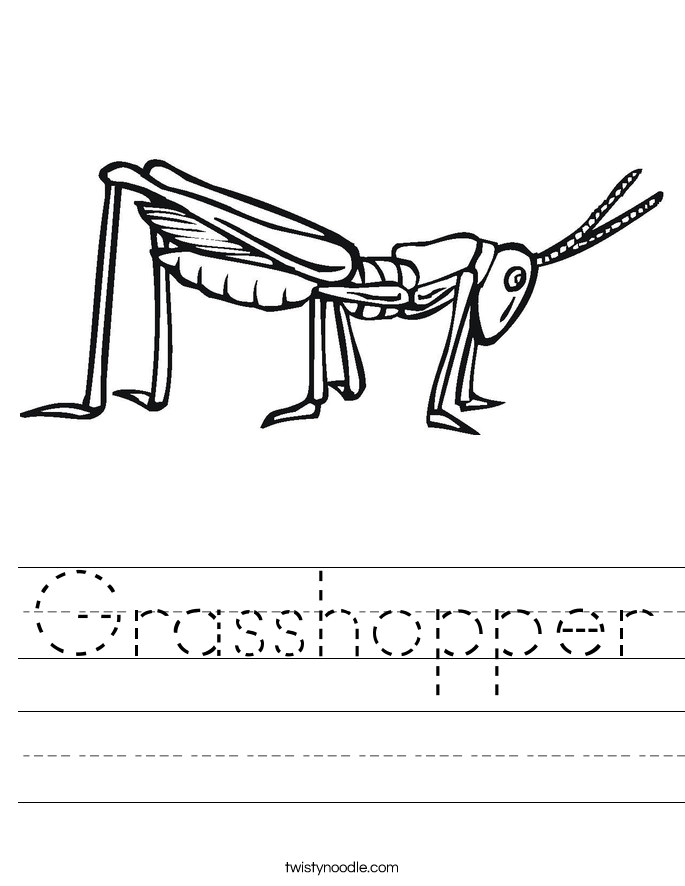 Printable Worksheets the grasshopper and the ant worksheets : Grasshopper Worksheet - Twisty Noodle