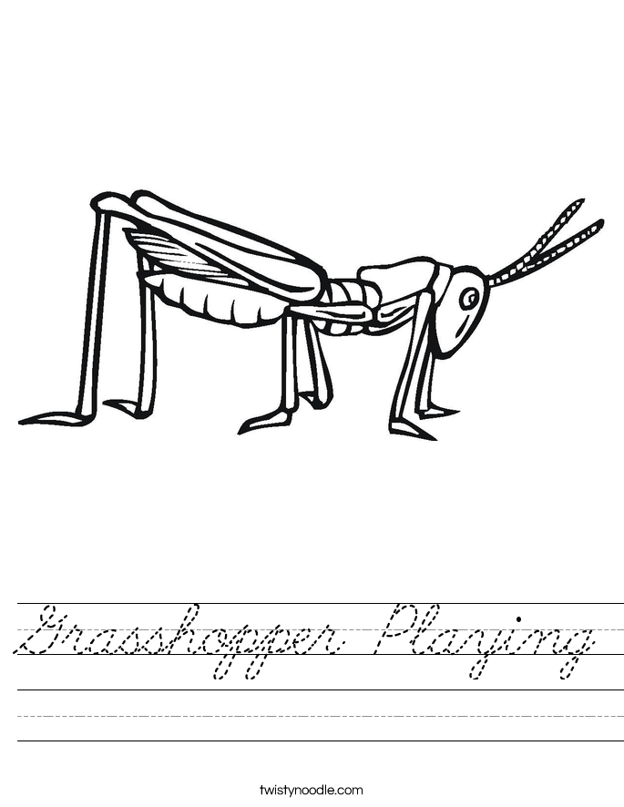 Grasshopper Playing Worksheet