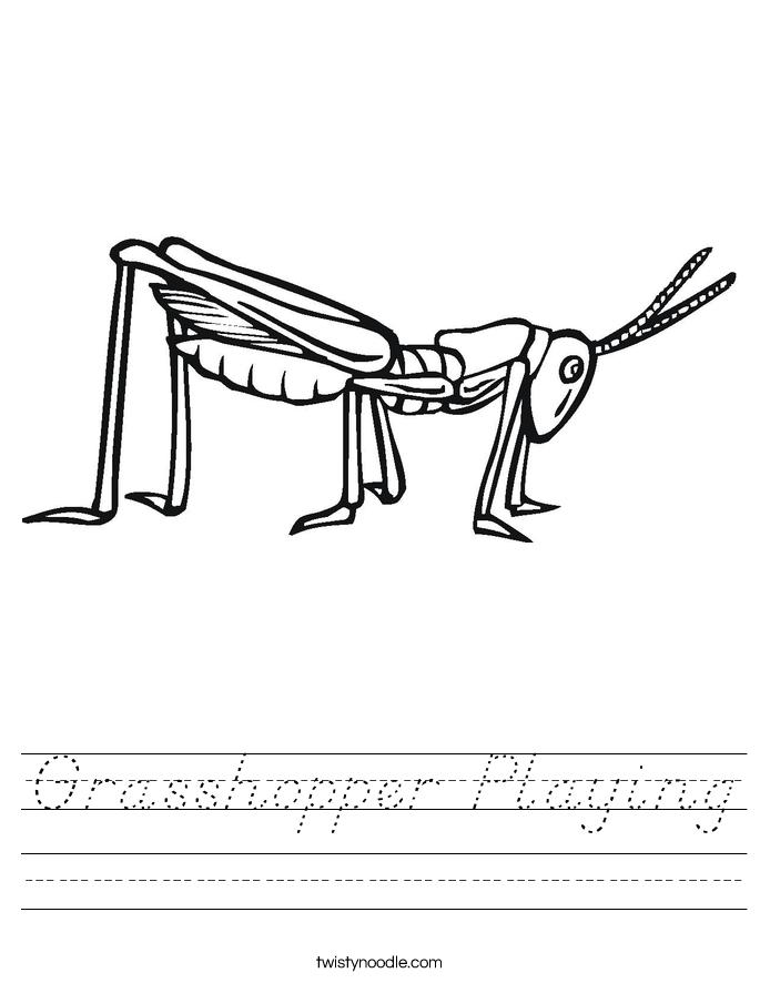 Grasshopper Playing Worksheet