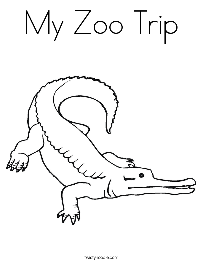 My Zoo Trip Coloring Page