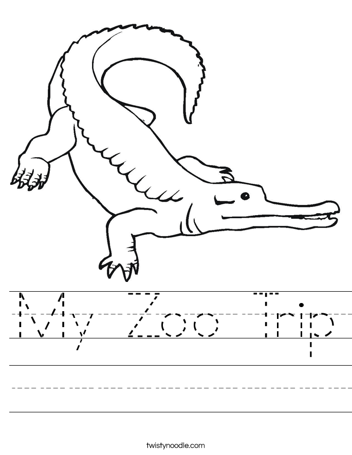 My Zoo Trip Worksheet