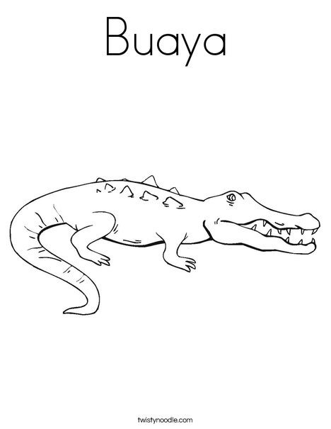 Crocodile Showing Teeth Coloring Page