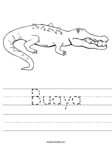Crocodile Showing Teeth Worksheet