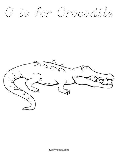 Crocodile Showing Teeth Coloring Page