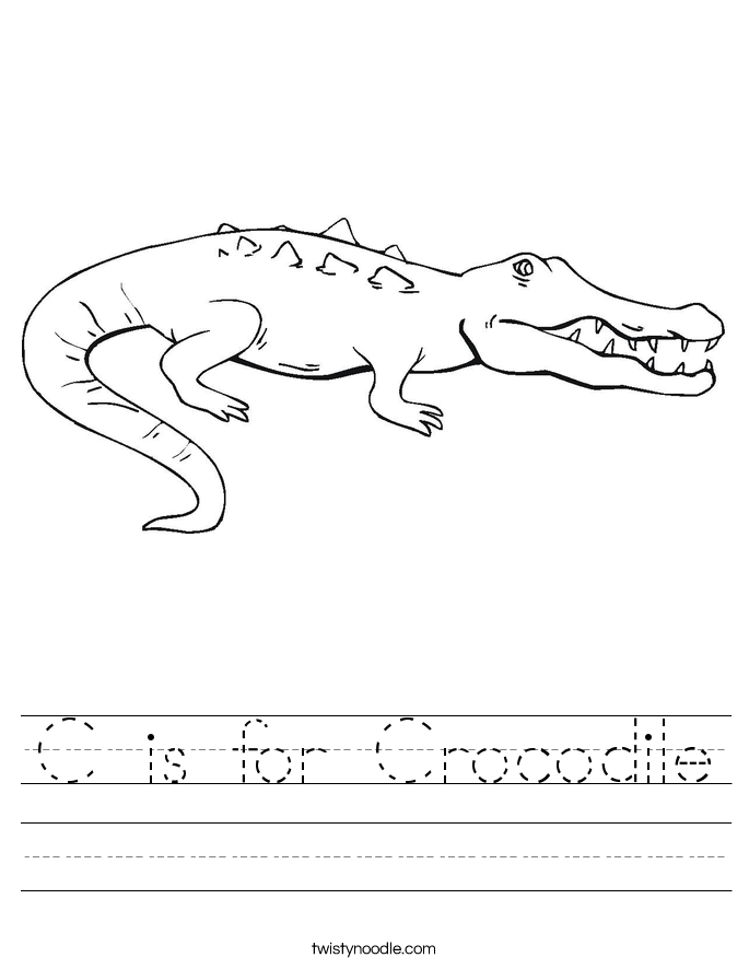 is for Crocodile Worksheet - Twisty Noodle