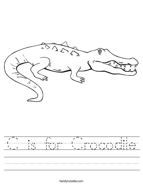Crocodile Showing Teeth Worksheet