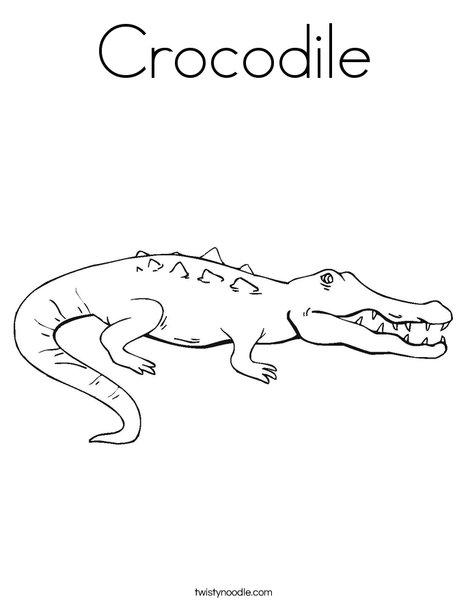 Crocodile Coloring Page Twisty