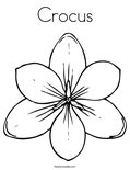 Crocus Coloring Page