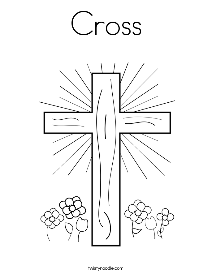 Crosses Outline Coloring Pages