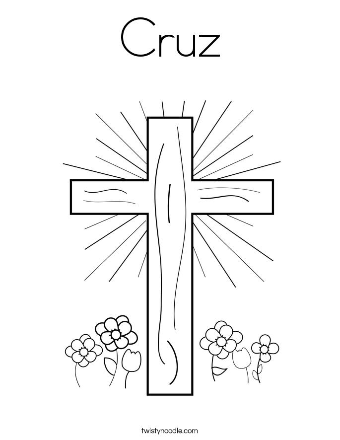 Cruz Coloring Page