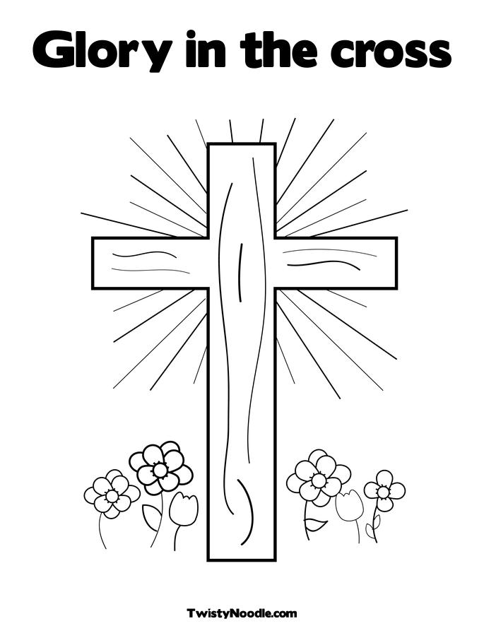 coloring cross picture  u00ab free coloring pages