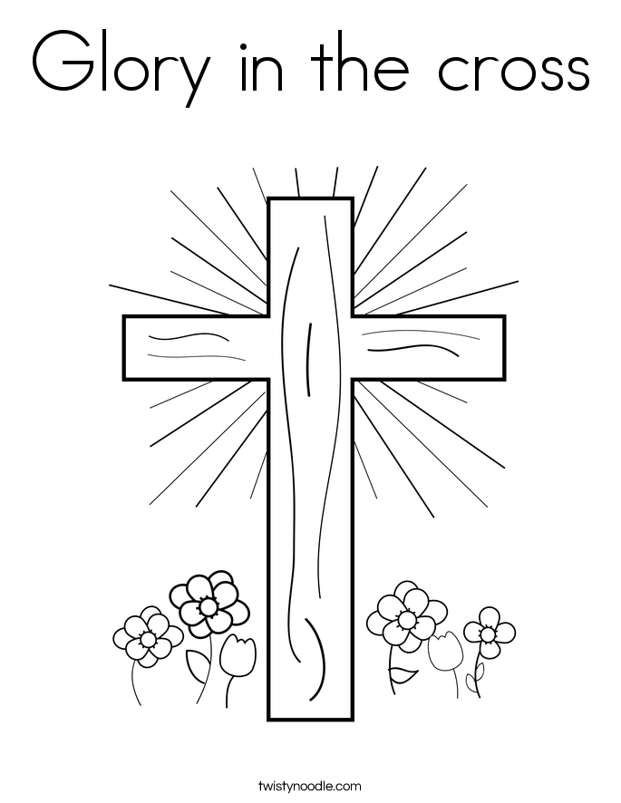 Glory in the cross Coloring Page